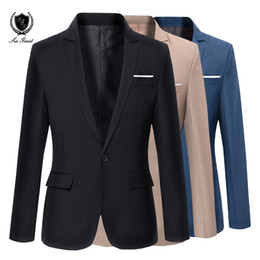 Nouveau Mens Marque Blazer Korean Casual Slim Fit costume veste de mode hommes mariage Blazers One Button mens manteau terno masculino