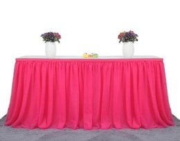 decorations for bridal shower tables online shopping 183 x cm tulle table skirt cloth for
