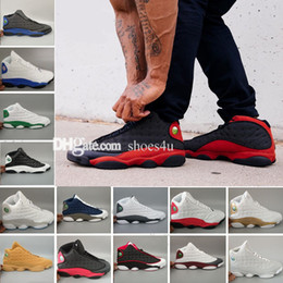 Chinese  2018 New Air13 XIII Wheat Basketball Shoes For Men,High Quality Mens 13s Basket Ball Sports Outdoor Sneakers Trainers US 8-13 Size 41-47 manufacturers