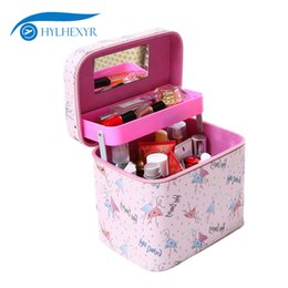 Professional Makeup Artist Cosmetic Bag Australia - wholesale Professional Makeup Bag Toiletry Bag Double Deck Female