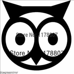 $enCountryForm.capitalKeyWord Australia - HotMeiNi Wholesale 20pcs lot Owl Head Sticker For Car Rear Windshield Truck SUV Bumper Auto Door Laptop Kayak Canoe Art Wall Die Cut Vinyl