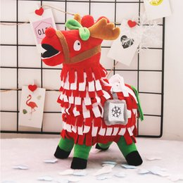 Doll Decoration games online shopping - 30cm Fortnite Short Plush Doll Games Grass Mud Horse Alpaca Toy Party Supplies Festival Christmas Gift home decoration hj hh