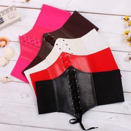 Wide red elastic belt online shopping - Sexy Women Waist Trainer Underbust Corset Elastic Wide Band Elastic Tied Waspie Corset Waist Belt Free Size Colors