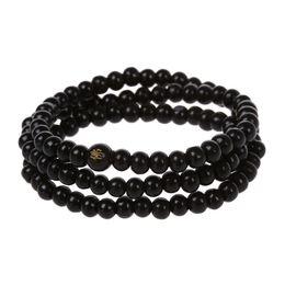 buddha beads necklace bracelet 2019 - 108 pcs 6*530mm Black Wood Buddha beads Long necklace Buddhism Strand Chain Mala Bracelet Jewelry cheap buddha beads nec