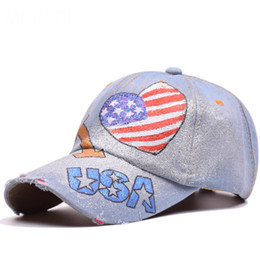 fdad5c3f45d 2018 Spring Summer And Autumn Hats For Men And Women Cowboy Cloth Hand Love Baseball  Hat Outdoors Joker Sunshade Peaked Cap