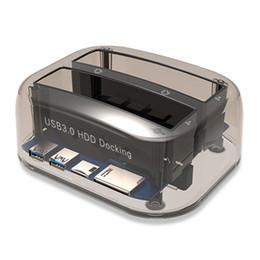 Hard drive Hdd docking station online shopping - USB to SATA Dual Bay External Hard Drive Docking Station for Inch HDD SSD Hard Drive Duplicator Plug Play