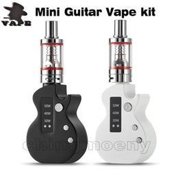 Discount mini box mods - 100% Original Mini Guitar Electronic Cigarette Vape starter kit Box Mod 50W Adjustable voltage 1050mAh battery E Cigaret