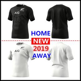 a1051e2a4b55a tamaño grande 4xl 5xl 2019 Nueva Zelanda All Blacks hogar lejos Rugby  Jerseys Super Rugby camiseta All Blacks jersey Tamaño S-5xL