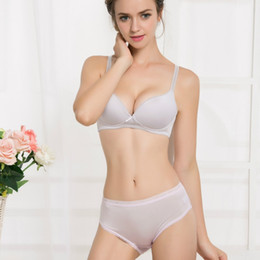 7f23649f49 Ladies Without Underwear Canada - Leechee Thin silk bras without steel ring  Summer lace without traces