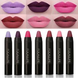 new nude lipsticks 2019 - New 2017 Makeup Matt Sexy Lips Color Cosmetics Pigment Nude Red Waterproof long lasting Focallure Matte Lipstick Pencil