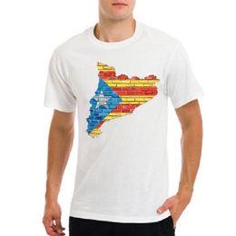 Vente en gros Tee-shirt drapeau de la Catalogne libre frontières barcelone symbole de l'emblème catalunya
