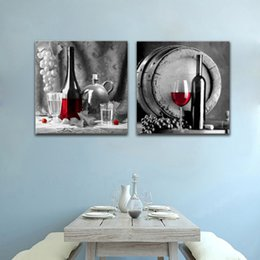 $enCountryForm.capitalKeyWord Australia - Retro Wine Bottles And Cups Art Print Poster Picture Decorative Kitchen Room Canvas Nordic Painting No Photo Frame