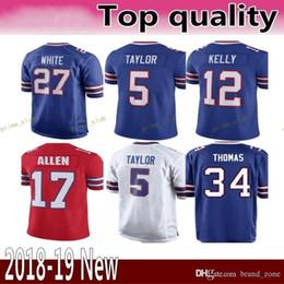 c29b1c637 Buffalo 17 Josh Allen Bills 27 Tre Davious White 49 Tremaine Edmunds Jersey  95 Kyle Williams 25 LeSean McCoy 34 Thurman Thomas Jerseys