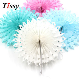 $enCountryForm.capitalKeyWord UK - 5PCS 8''(20CM) Snowflake Tissue Hollow Paper Fans Pinweels Hanging Kids Birthday Wedding Party Decoration Baby Shower Supplies