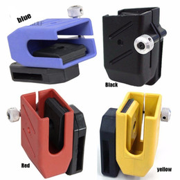 Wholesale magazine quality resale online - High Quality Airsoft IPSC CR Quick Draw Holster Magazine Left Right Handed Tactical Holster Pouch Red Yellow Blue Black