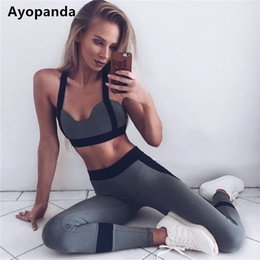 jogging sports bra Canada - Ayopanda Hot Sale 2Pcs Set Women Yoga Sets Fitness Seamless Sports Bra Yoga Pants Legging Gym Workout Jogging Dance Sports Wear