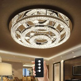 $enCountryForm.capitalKeyWord NZ - 3 brightness K9 crystal light living room lamps ceiling lights Chrome crystal ceiling lights LED bedroom restaurant lamp with remote control