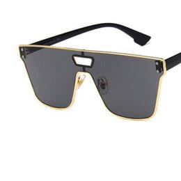 e616f4d23b 2018 One Piece Lens Sunglasses Mens Big Rectangle Frame UV400 Sun Glasses  Womens Adumbral Sexy Cool Eyewear Sale