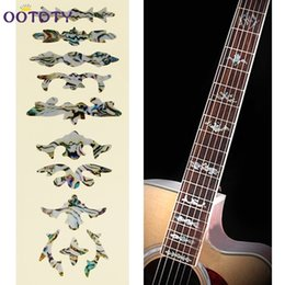 Acoustic Guitar Stickers Decals UK - Cross Inlay Decals Fretboard Sticker For Electric Acoustic Guitar Accessories