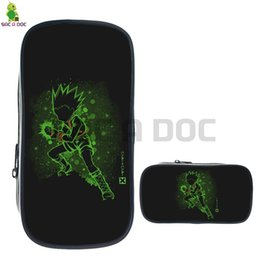 224dbba349ea Anime Hunter X Hunter Gon Fluorescence Cosmetic Bag Pencil Case School  Supplies Stationery Storage Bags Makeup Bag
