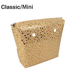 $enCountryForm.capitalKeyWord Canada - Wood Grain PU Leather Inner Zipper Pocket Lining Waterproof Insert for Big Classic Mini Obag EVA O BAG Women Handbag