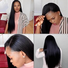 Ponytail Hairstyles For Babies NZ - Unprocessed Virgin Full Lace Wigs Human Hair With Baby Hair 8A Bleached Knots Lace Front Ponytail Wigs Braziian Virgin Hair Wig For Women