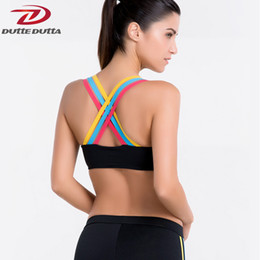 bc595a3c06 DutteDutta Sexy Push Up Sports Bra Top Women Fitness Vest Running Quick Dry  Strappy Athletic Yoga Bras Workout Gym Brassiere