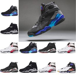 40d822d387edee 2018 Mens New Designer 8 8s Aqua Chrome Basketball Shoes Countdown Pack  Playoff Three Peat Men Trainer Sports sneakers size 41-47