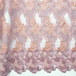 $enCountryForm.capitalKeyWord Australia - WorthSJLH French Tulle Fabric Lace Material Dresses Nigeria Lace Fabric Embroidery Lilac Magenta African Lace Fabric For Women