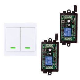 $enCountryForm.capitalKeyWord UK - DC 9V 12V 24V 1 CH 1CH RF Wireless Remote Control Switch System Receiver+ 2CH Wall Panel Transmitter,315 433 MHz,Self-lock