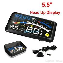 "Universal Display Systems NZ - DHL 5PCS ASH-4E 5.5"" Universal OBD2 Car GPS HUD Head Up Display Overspeed Warning System"