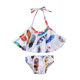 China Newborn Kids Baby Girl Clothes Set Swimwear Two pieces Swimsuit Bathing Beachwear Vest Tops Bottoms Clothing Girl 3-24M cheap baby boy wholesale swimsuit suppliers