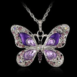 Wholesale DUOVIN Fashion Trendy Crystal Butterfly Pendant Necklace For Women New Jewelry Necklace Gifts For Female Friends