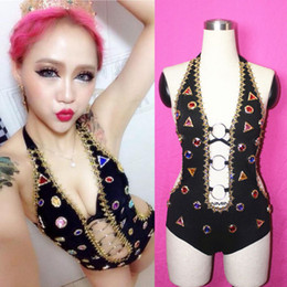 HipHop dance costumes online shopping - New Style Fashion Female Singer Ds Costume Dj Hiphop Jazz Dance Costumes Women Stage Wear Performance Jumpsuits Clothes Set