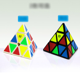 Free educational game online shopping - Free DHL Puzzle cube Triangle Mini Magic Rubik Cube Pyramid Game Rubik Learning Educational Game Rubik Cube Decompression toys B