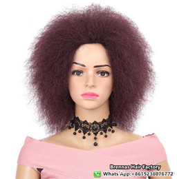$enCountryForm.capitalKeyWord NZ - Free shipping factory price natural fro kinky curly african hair styles for black women synthetic crochet braiding hair wigs blonde 99j #4