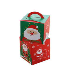 gift boxes handles uk 10pcs lot festival party santa claus merry christmas eve apple packaging