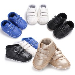 $enCountryForm.capitalKeyWord Australia - Spring Autumn Shoes Boys Newborn Baby Classic Breathable style PU Leather First Walkers Tennis Lace-Up