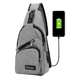 Men Casual Chest Shoulder Bag Famous Desinger Men Women Crossbody Bag with  USB Port Sling Pocket Handbag Travel Messenger Bags f8b0af7efe05