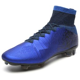$enCountryForm.capitalKeyWord Canada - Men Blue Soccer Cleats Shoes High Ankle Football Boots Mercurial CR7 FG Soccer boots Wear-resistant cheap Sport boots