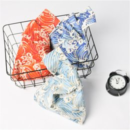 $enCountryForm.capitalKeyWord NZ - Japanese Kimono Yukata Handbag Wrist Bag Coin Purse Mobile Phone Key Small Bag Grid Bronzing Wave Printed Handmade Square