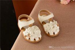 New Girl Toe Sandals Sandals Coréen Doux Fleurs Enfant Bébé Chaussures De Princesse Chaussures taille 21-30 en Solde