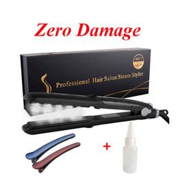 $enCountryForm.capitalKeyWord NZ - Professional Steam Hair Straightener Ceramic Salon Flat Iron-Curling & Straightening in one 6-Level Adjustable Temp LCD Display(300°F-450°F)