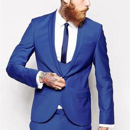 5e51f29d3cd men sky blue suit blazer 2019 - 2018 Custom Made Royal Blue Men Suit  Classic Groom