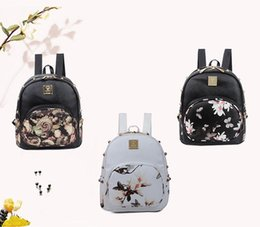 $enCountryForm.capitalKeyWord NZ - New Korean Style Printing Rivet Backpack School Bags For Teenagers PU Leather Women Backpacks Girls Travel Bag Female Mochila