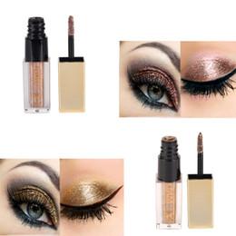 Wholesale Glitter Products Australia - 6 Colors New Diamond Glitter Liquid Eyeshadow Beauty Makeup Cosmetics Shimmer Eye Shadow Waterproof Products