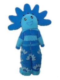$enCountryForm.capitalKeyWord Canada - 2018 High quality hot the head a blue sunflower mascot costume for kids to wear