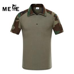 camouflage combat suit 2018 - MEGE Tactical Gear Multicam kryptek Army Combat Shirt, Uniform Top POLO, Camouflage Hunting Clothing Ghillie Suit discou