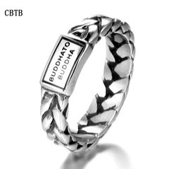 StainleSS Steel jewelry Sell online shopping - Hot Sell fashion weaving girl woman sterling silver stainless steel big brand buddha to budaha ring jewelry