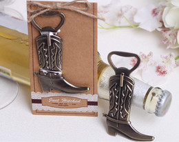 souvenirs shower wedding UK - 20pcs Cowboy boots Beer Bottle Opener Corkscrew For Wedding Baby Shower Party Birthday Favor Gift Souvenirs Souvenir